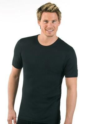 Medima  Lingerie Herren-Hemd 1/4 Arm Air to Wear schwarz